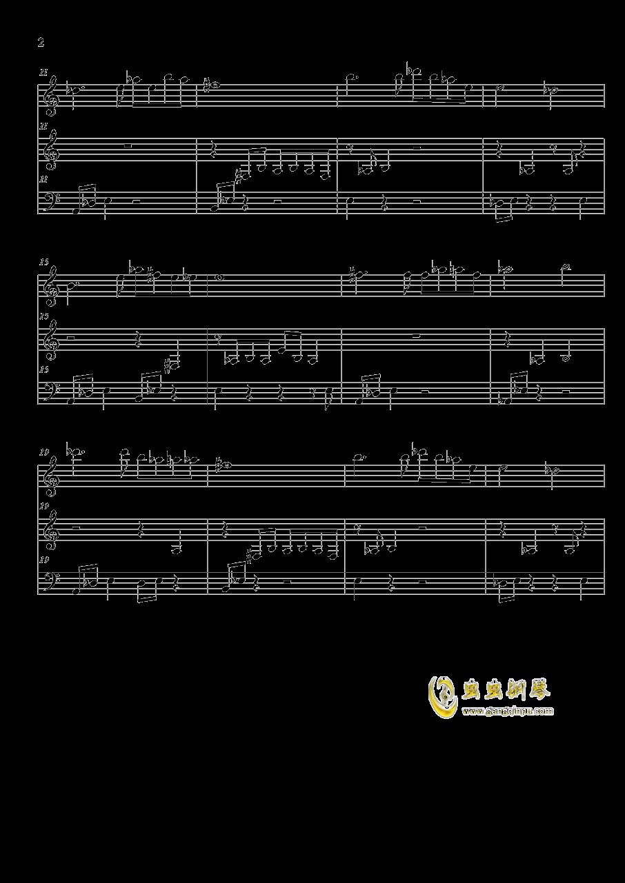 星空 歌 钢琴谱