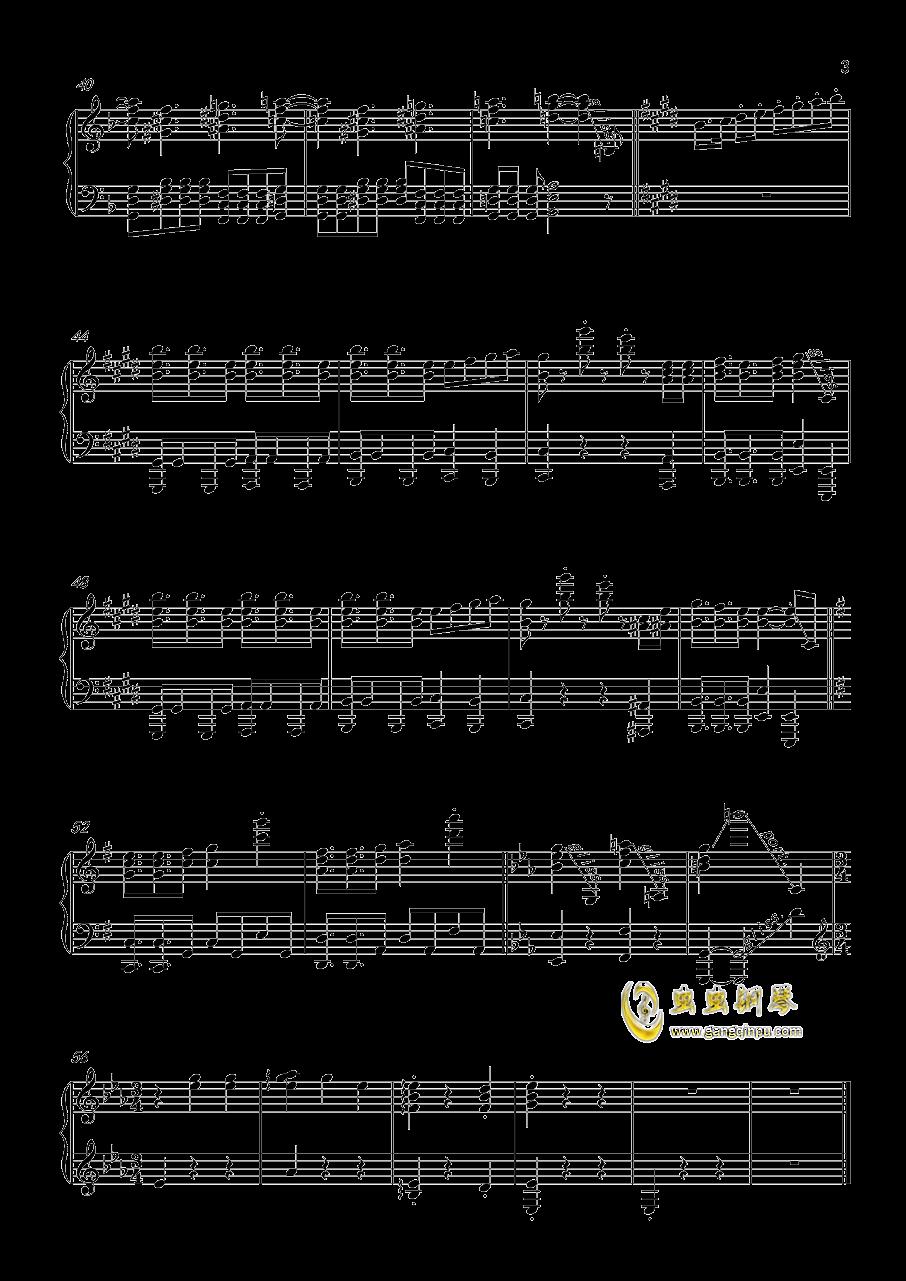 珈百璃的堕落钢琴谱 第3页
