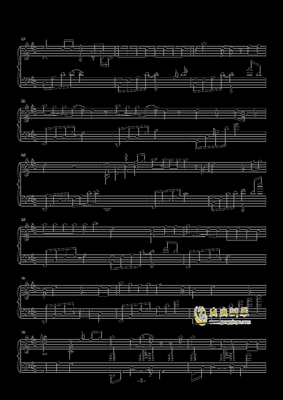 梦一场钢琴谱 第2页