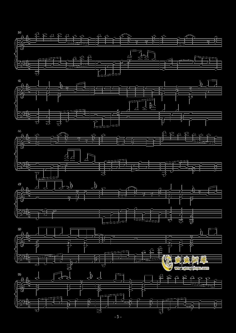 梦一场钢琴谱 第3页