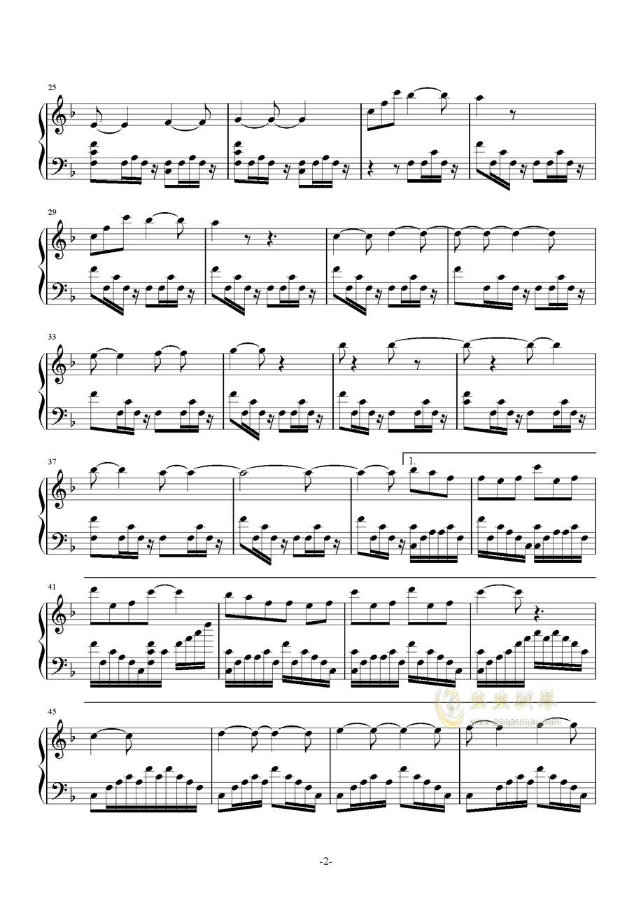 魔法使いの夜钢琴谱 第2页