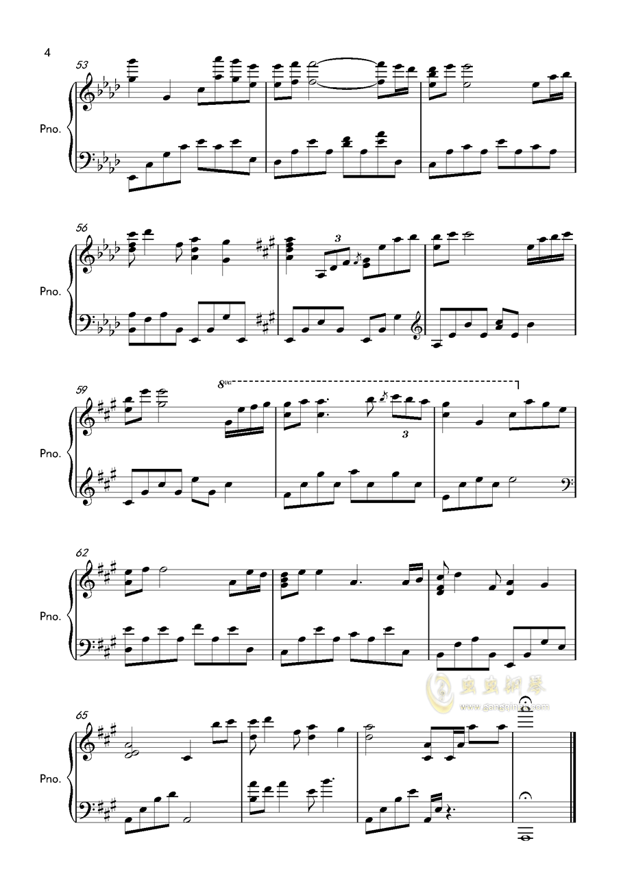 kiss the rain钢琴谱 第4页