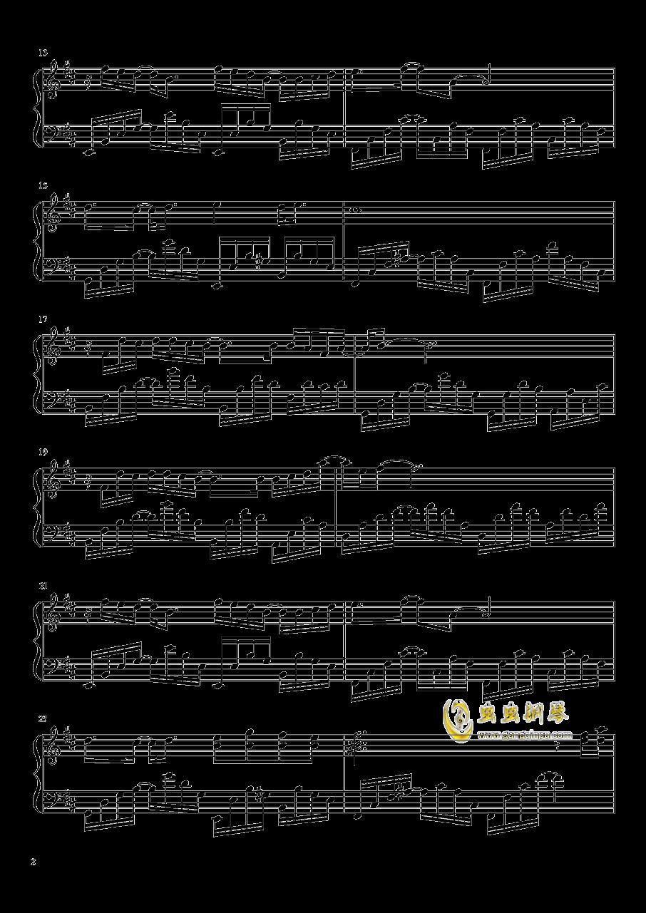 雨花 Rain Flower钢琴谱 第2页