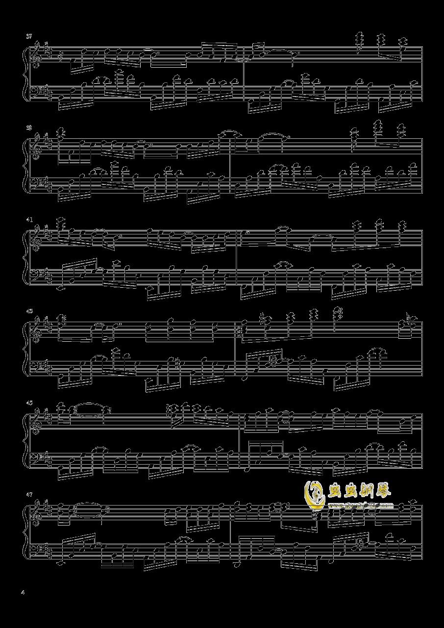雨花 Rain Flower钢琴谱 第4页