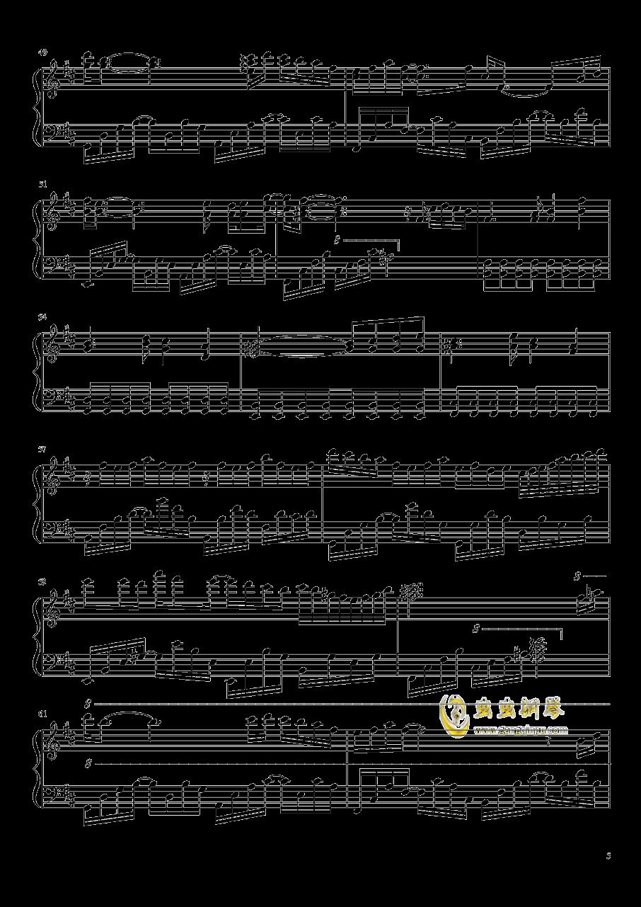 雨花 Rain Flower钢琴谱 第5页