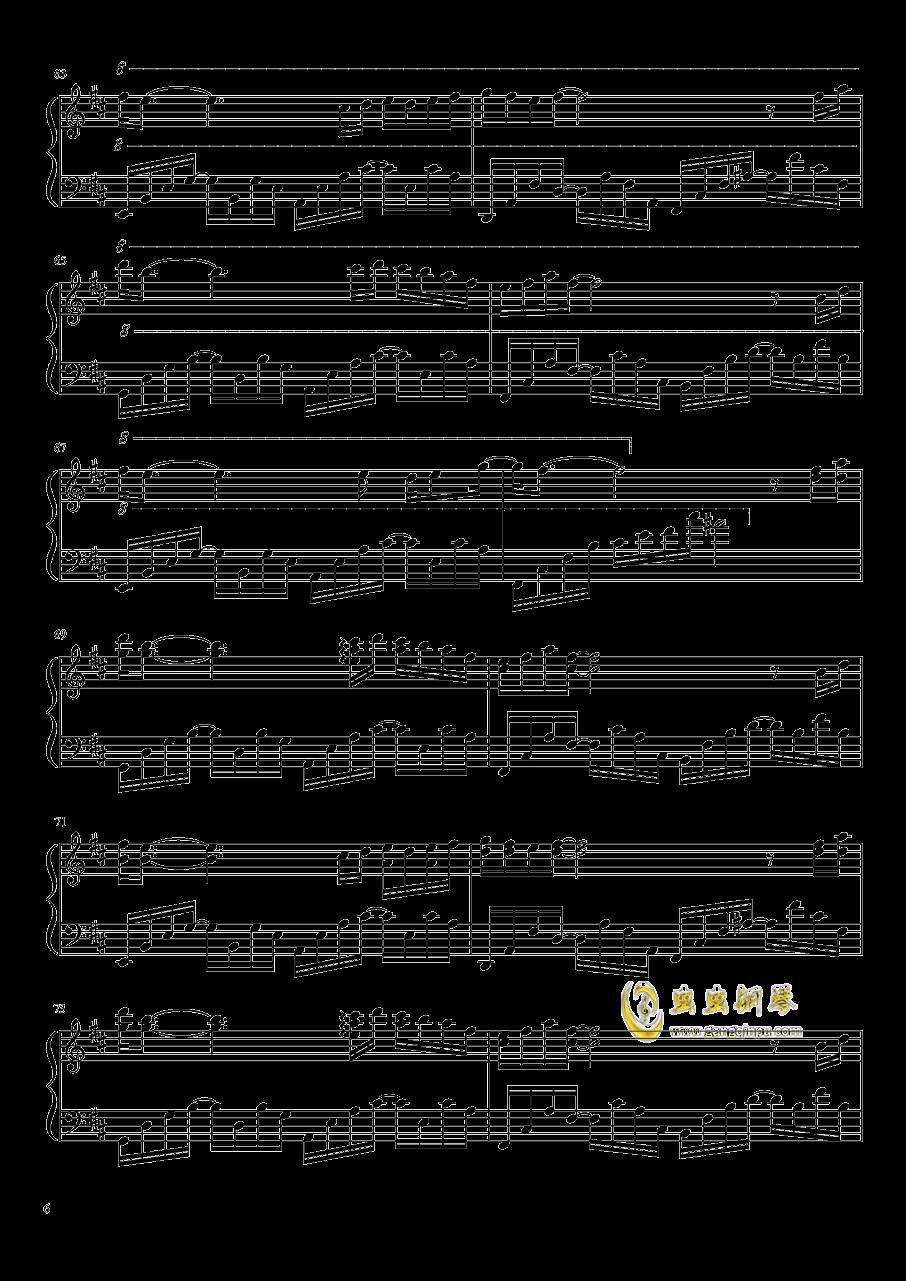 雨花 Rain Flower钢琴谱 第6页