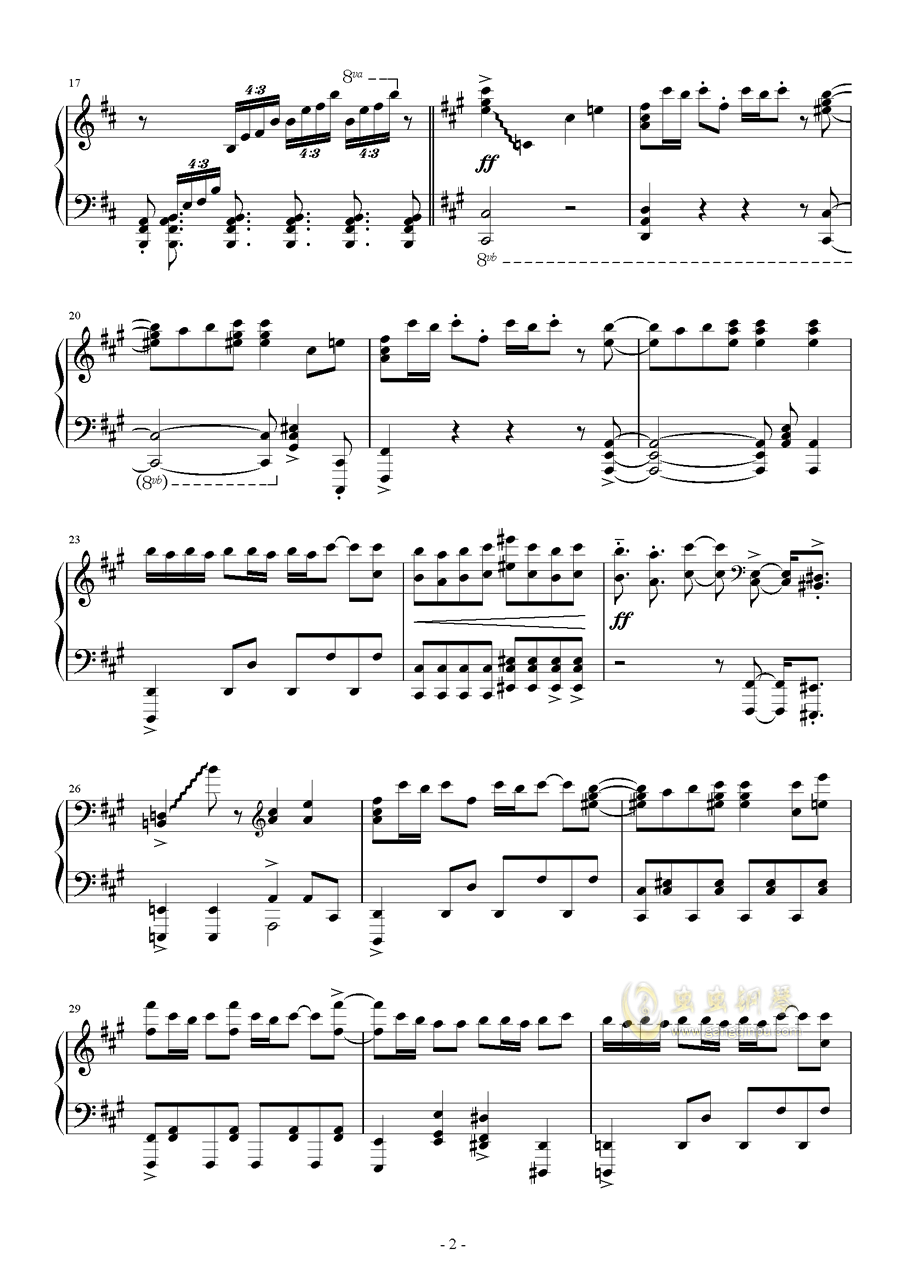 Vocaloid歌曲串烧2017钢琴谱 第2页
