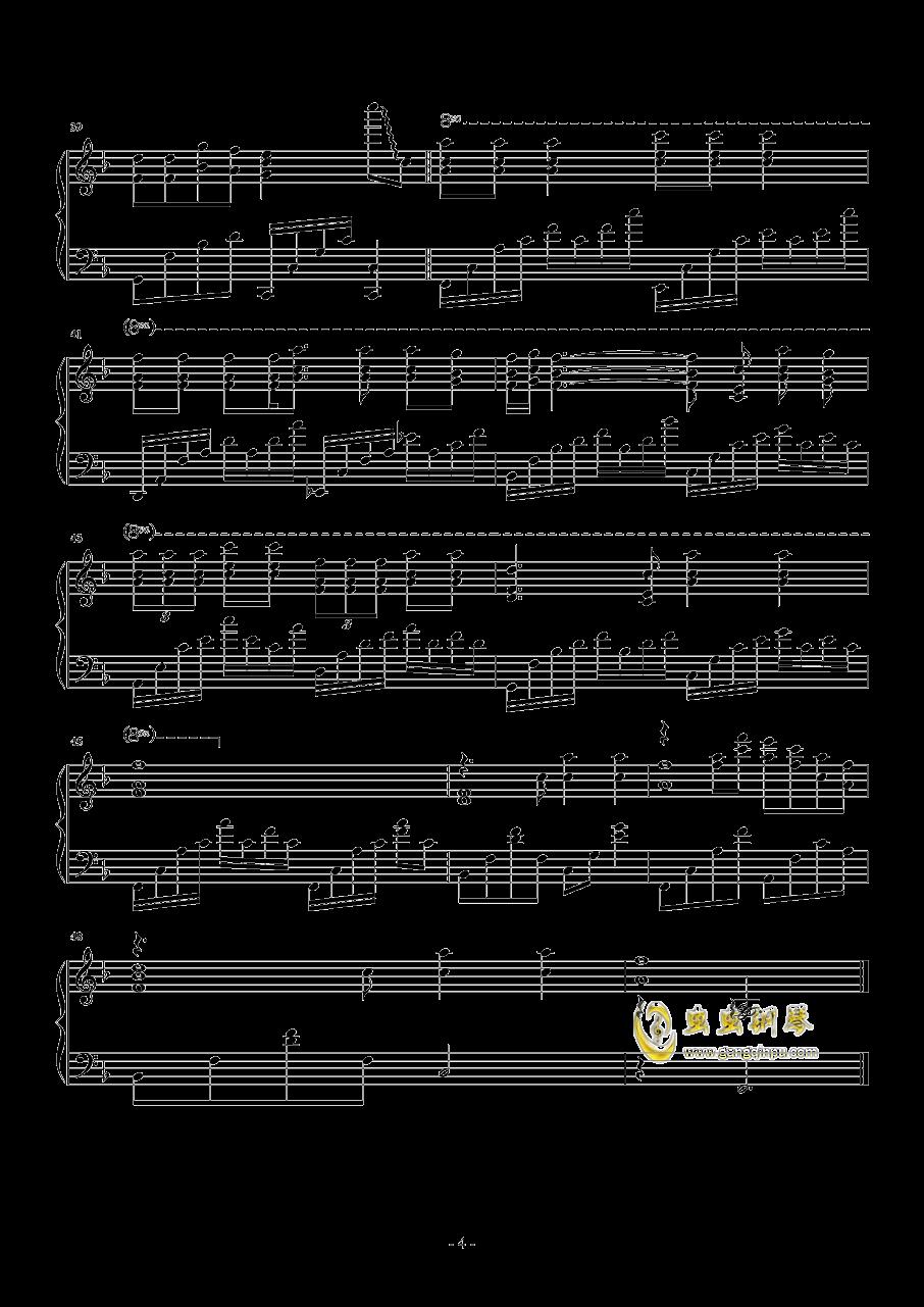 A Little Love钢琴谱 第4页