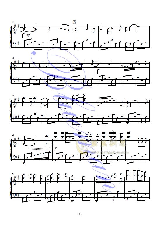 莉莉安钢琴谱 第2页