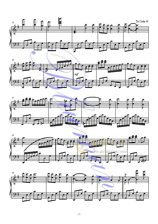 莉莉安钢琴谱 第3页