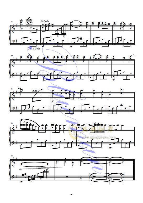 莉莉安钢琴谱 第4页