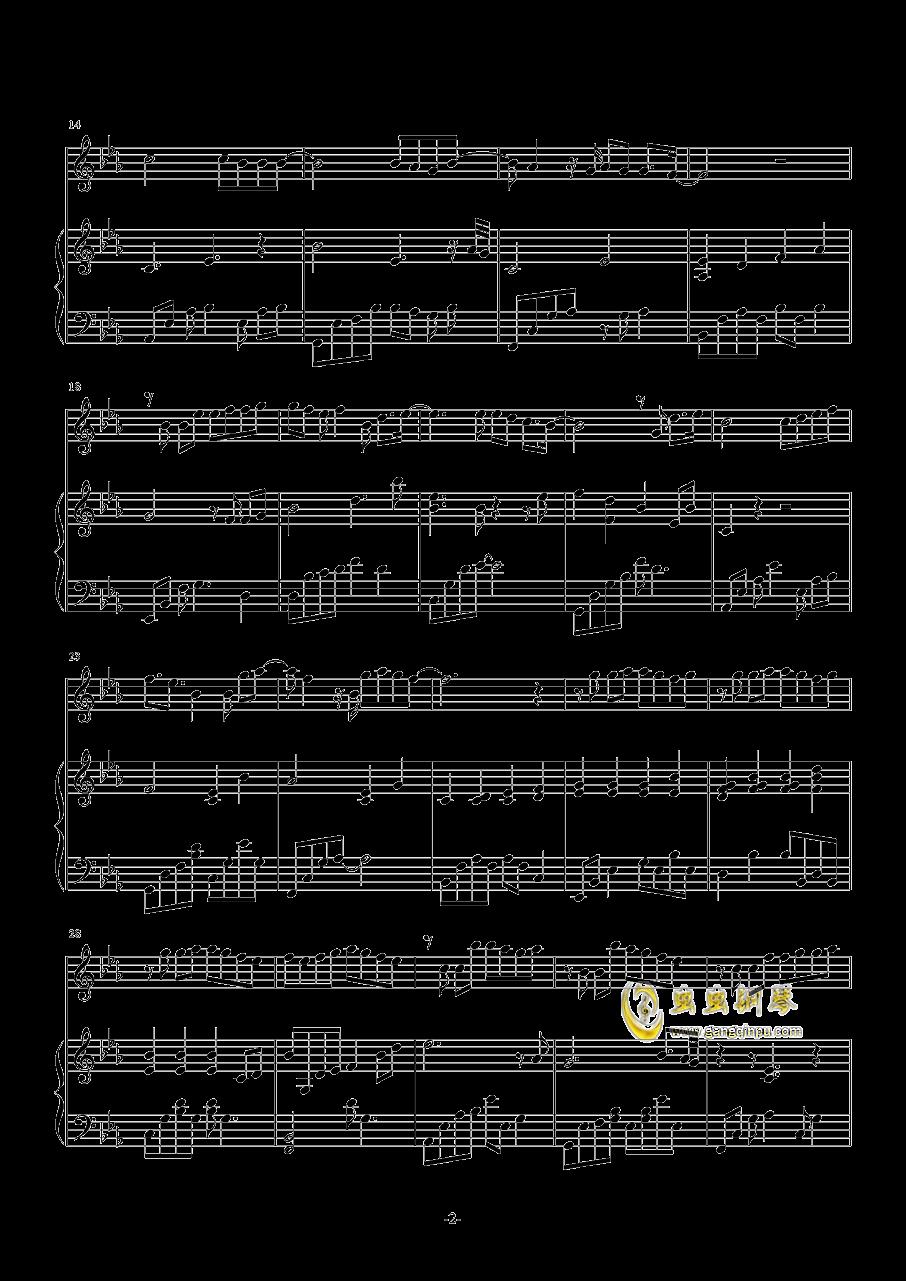 我以为钢琴谱 第2页