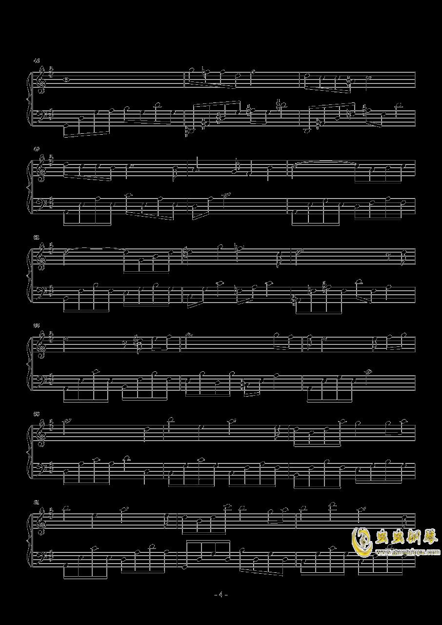 曾经守候钢琴谱 第4页