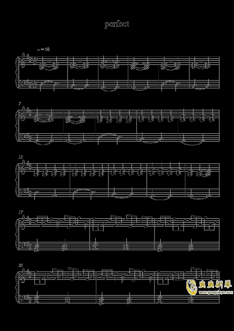 perfect 钢琴谱 第1页