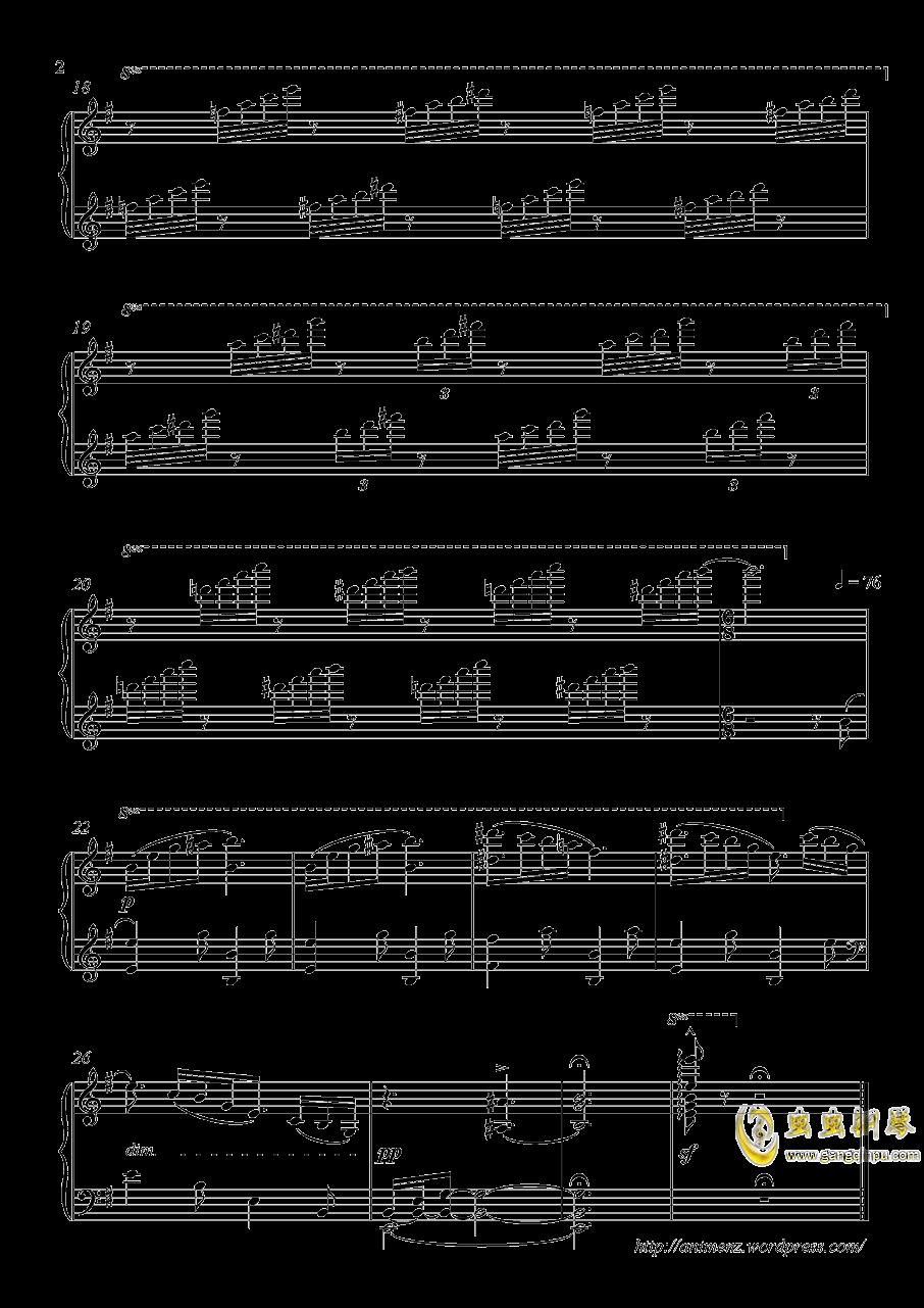 Dream theme钢琴谱 第2页
