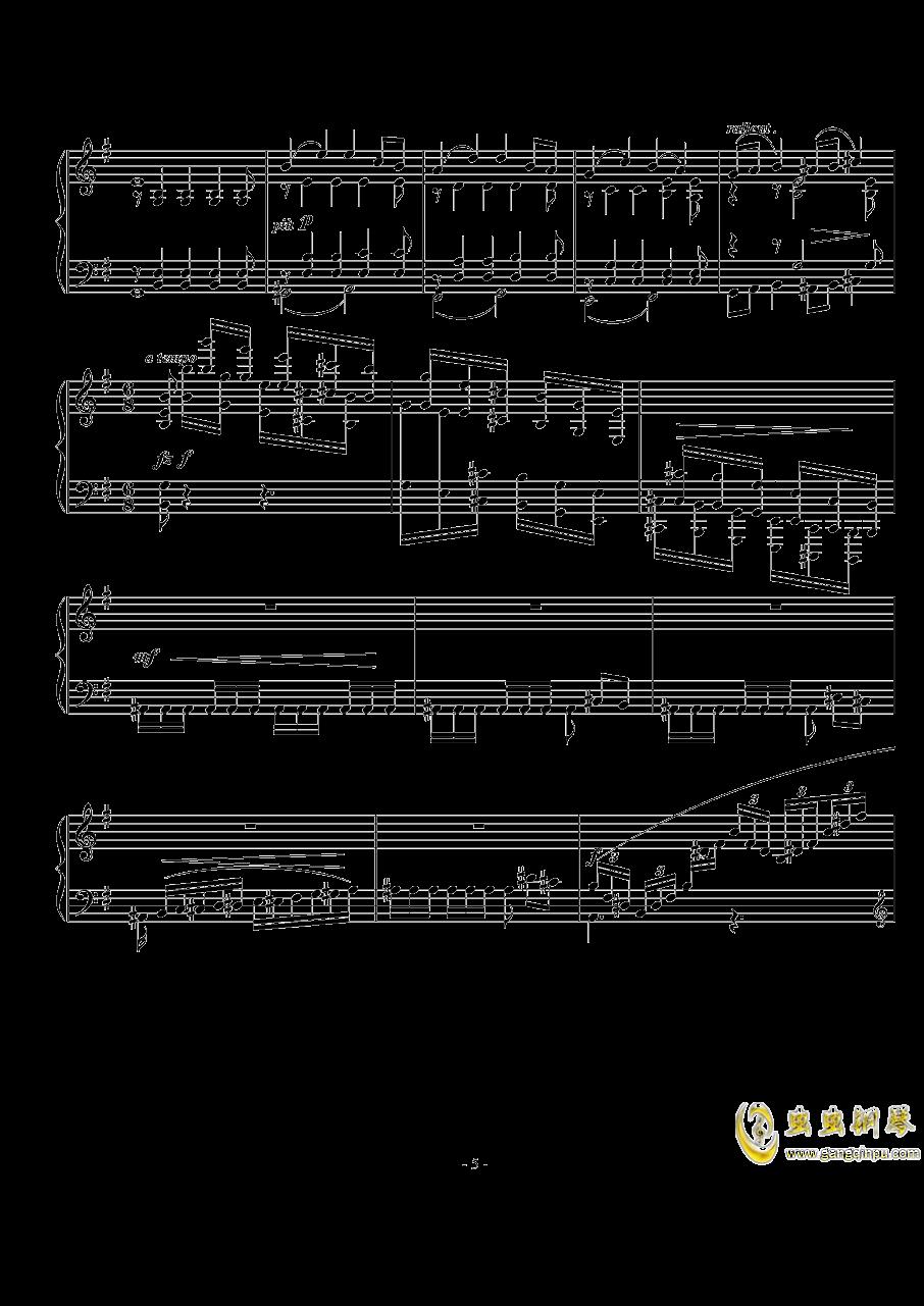 小随想曲钢琴谱 第5页