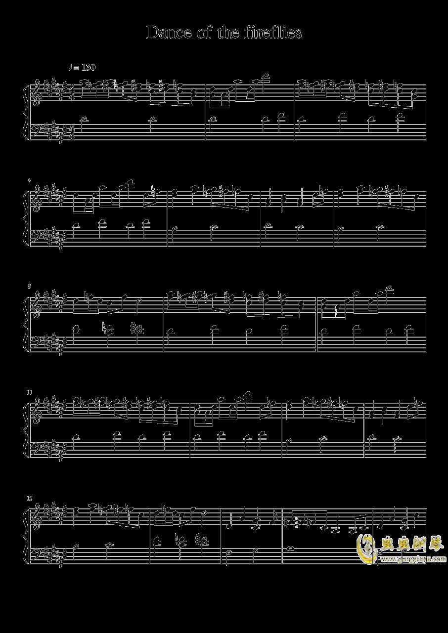 萤火虫之舞钢琴谱 第1页