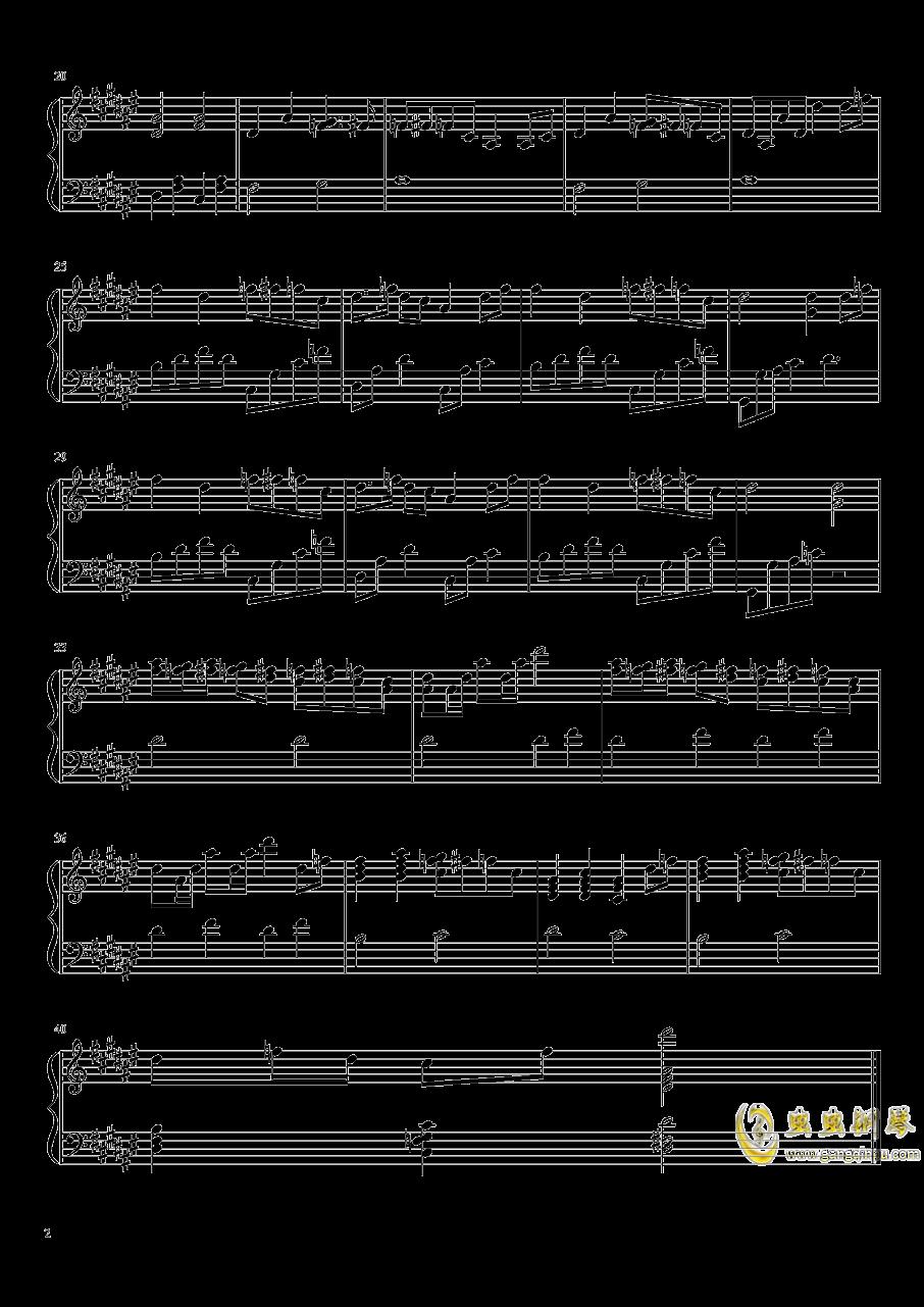 萤火虫之舞钢琴谱 第2页