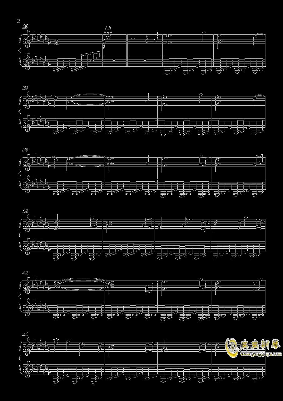 蝶月情深钢琴谱 第2页