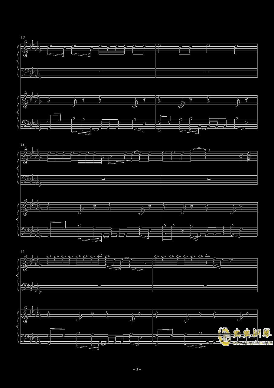 禁止恋爱的世界ED Can钢琴谱 第2页