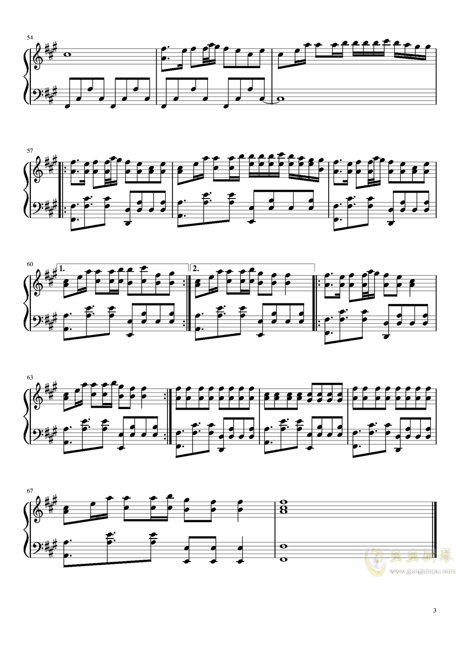 Alan Walker钢琴谱 第3页