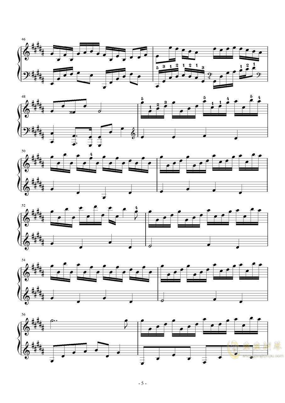 花之舞钢琴谱 第5页