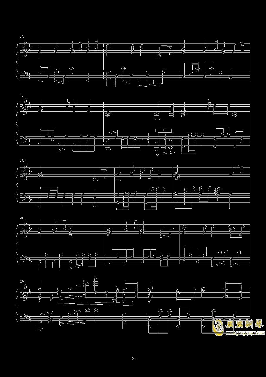亮剑钢琴谱 第2页