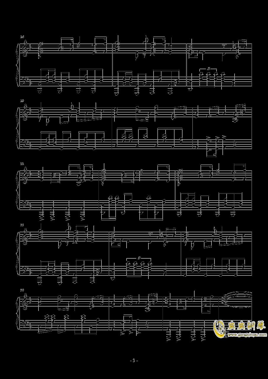 亮剑钢琴谱 第3页