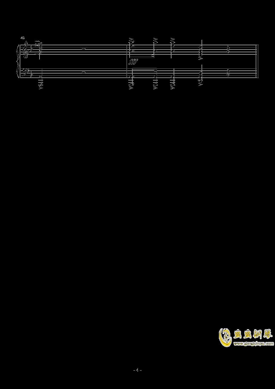 亮剑钢琴谱 第4页