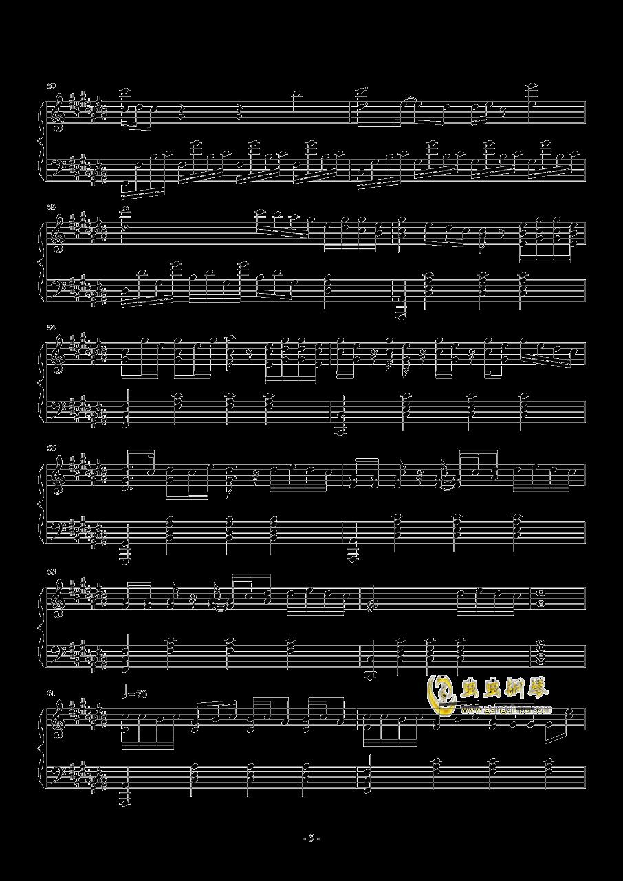 A Little Love钢琴谱 第5页