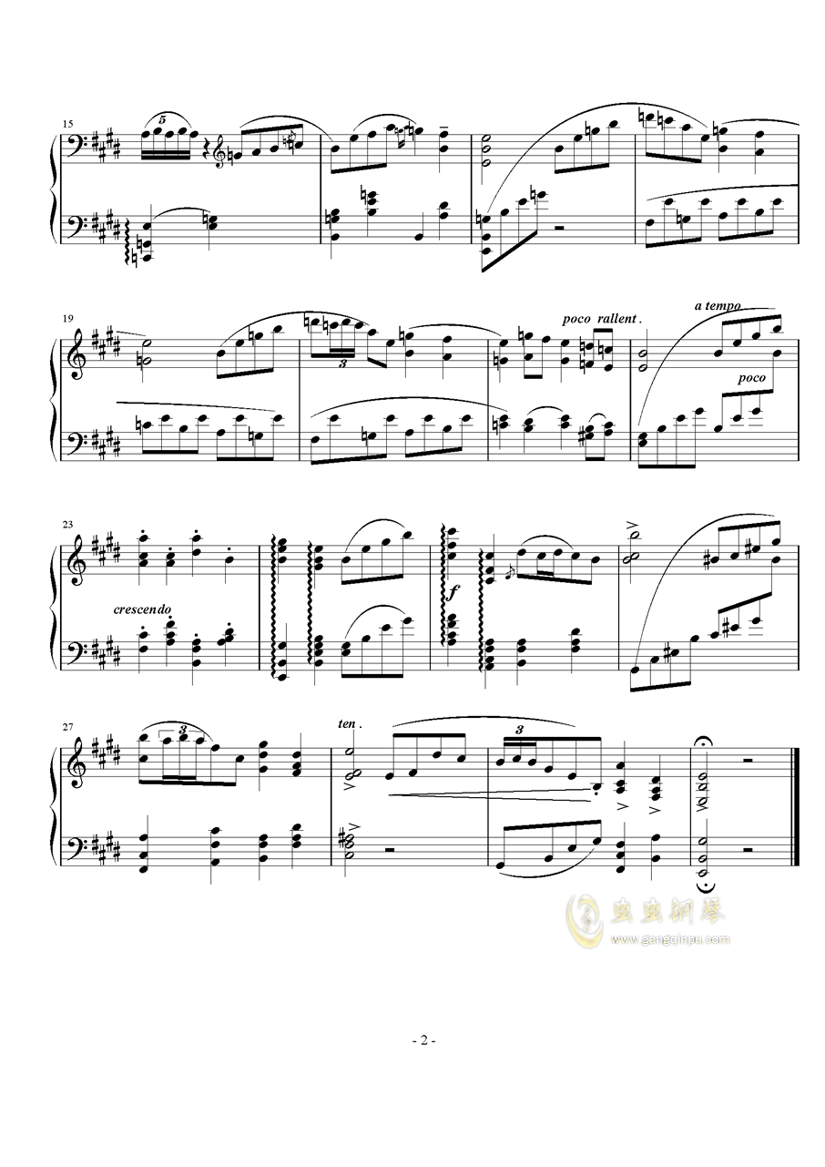舞曲曲调钢琴谱 第2页