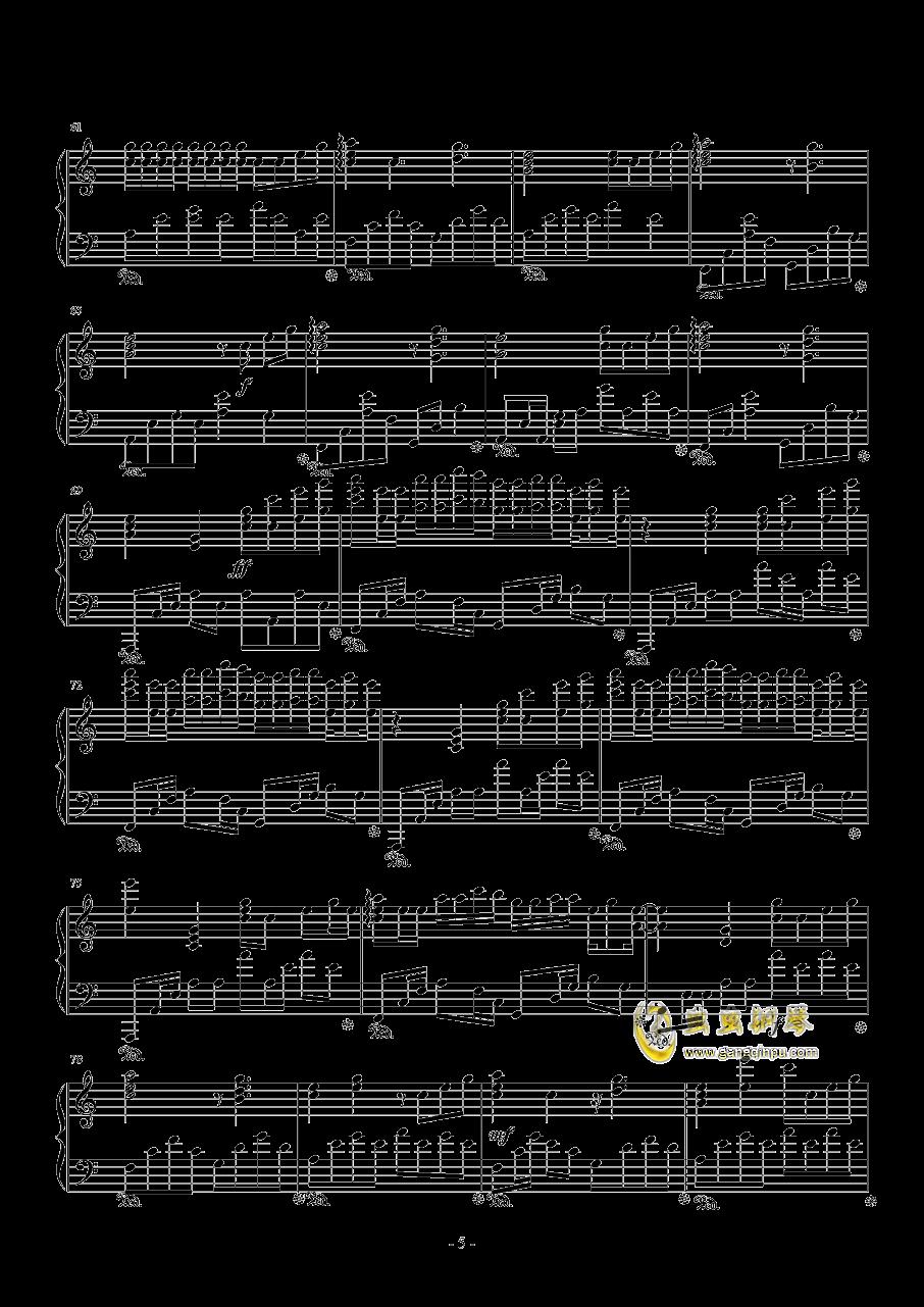 病名为爱钢琴谱 第5页
