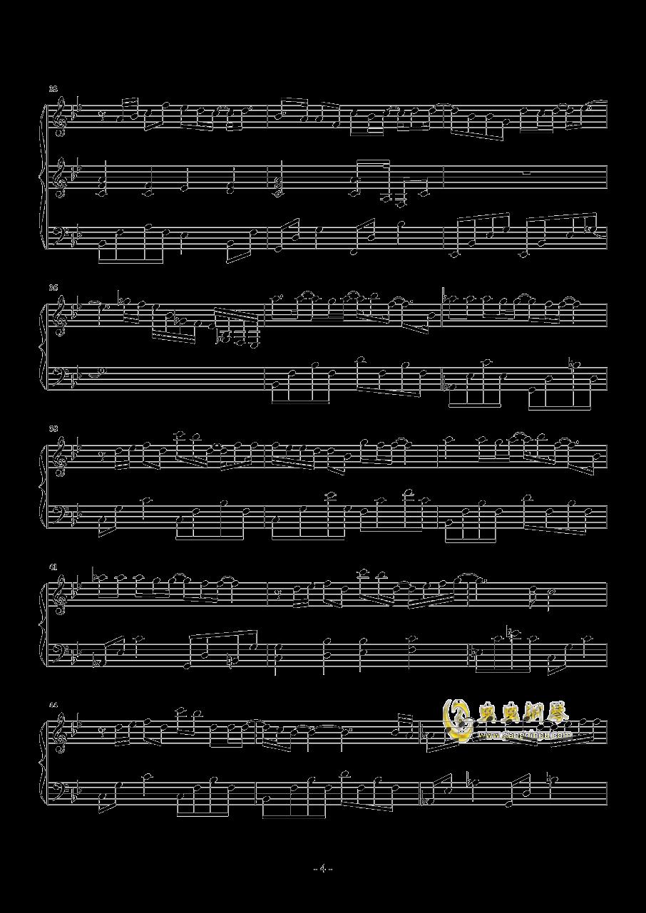 一半一半钢琴谱 第4页