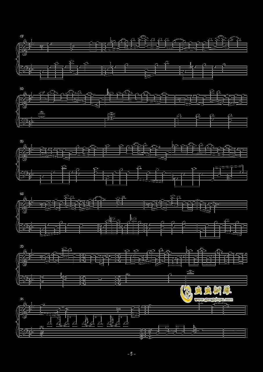一半一半钢琴谱 第5页