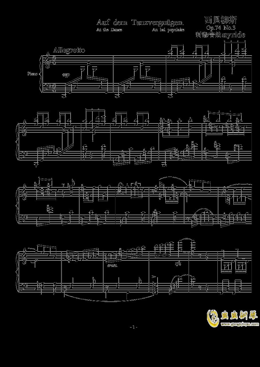 Op.74  No.3钢琴谱 第1页
