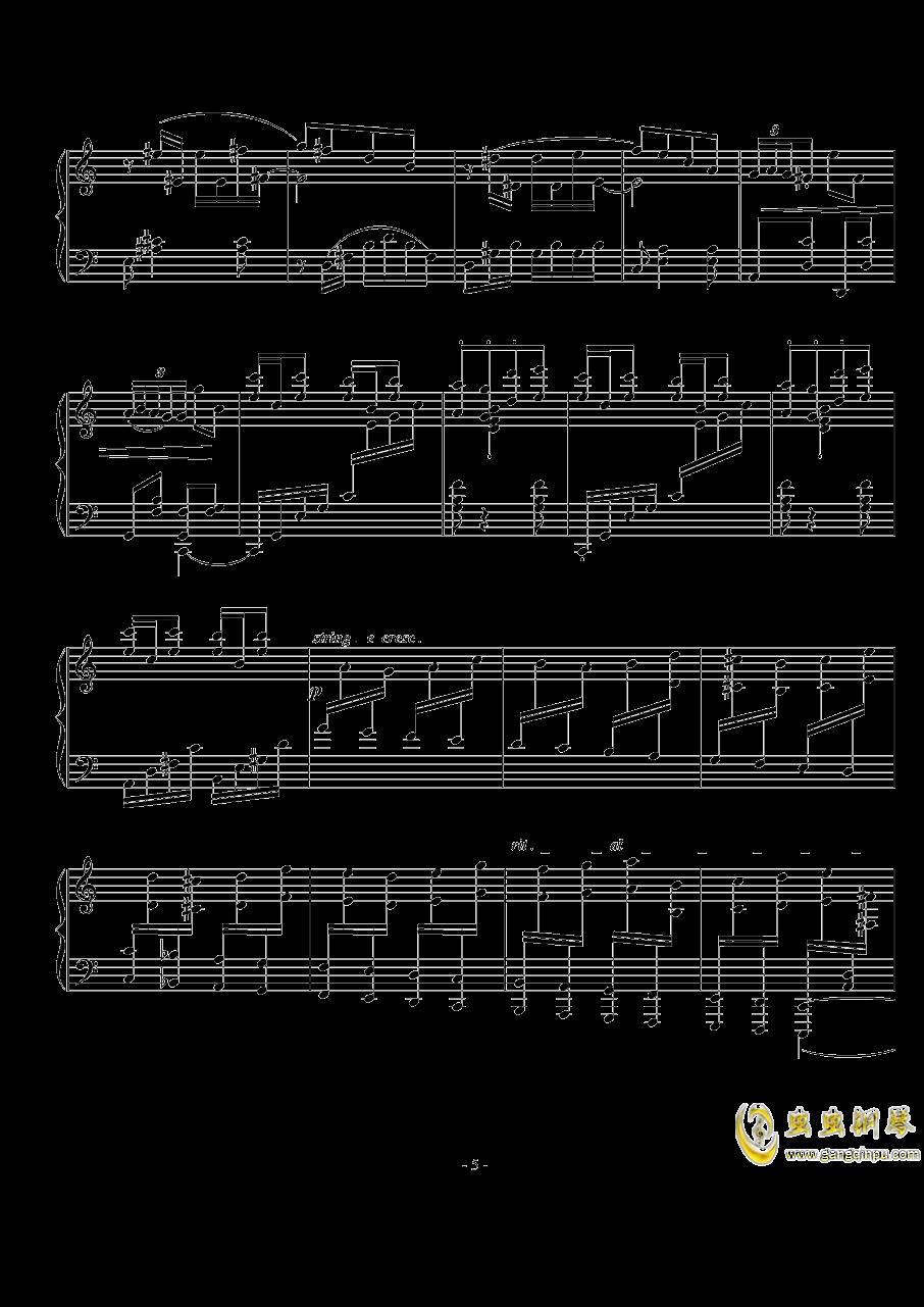 Op.74  No.3钢琴谱 第5页