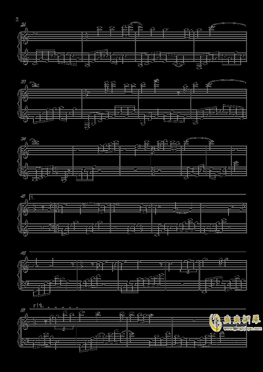 爱上张无忌钢琴谱 第2页