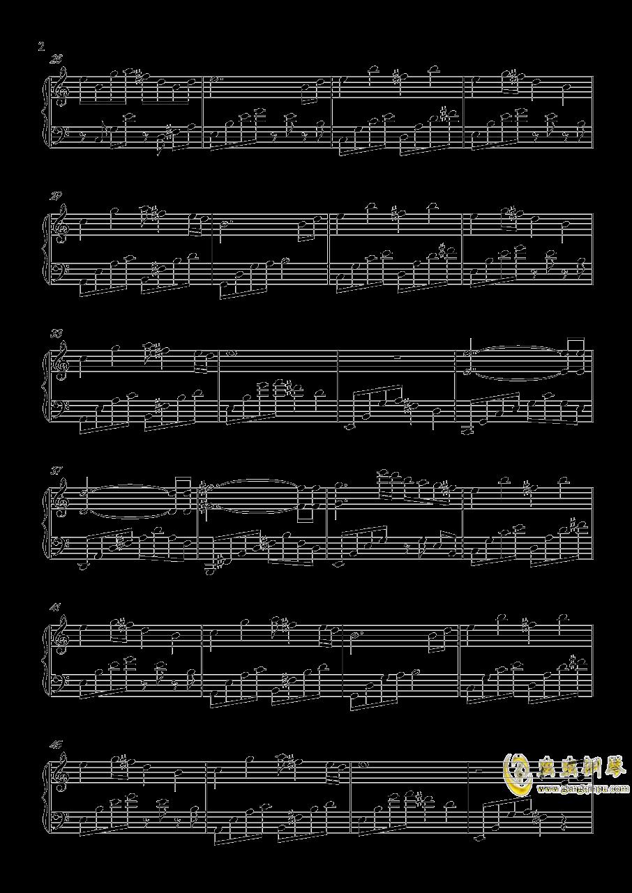 夜雨寄北钢琴谱 第2页