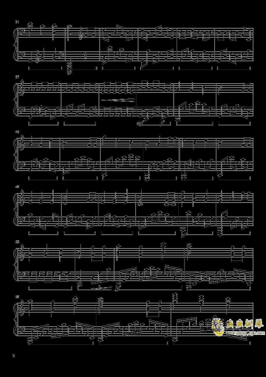 生日快乐钢琴谱 第2页