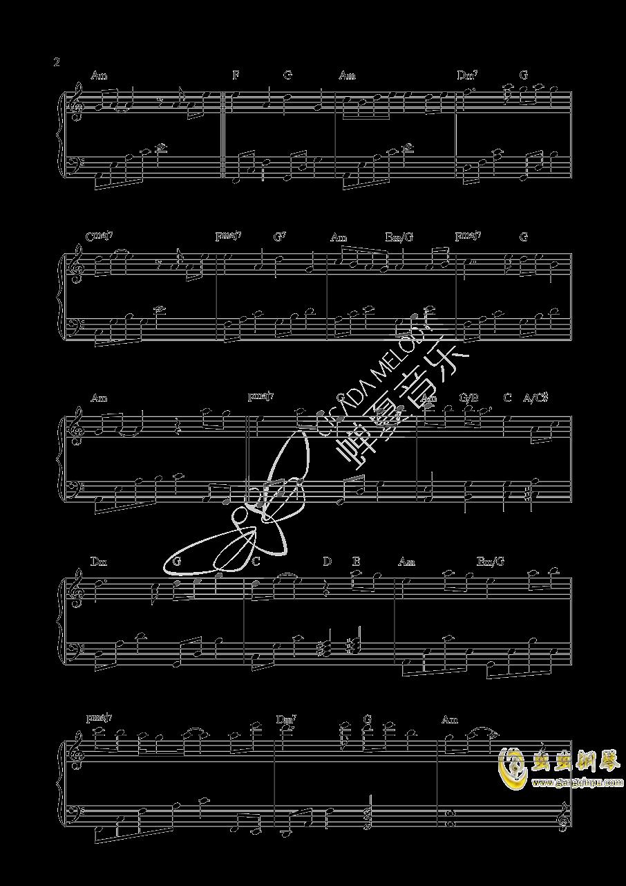 桃花诺钢琴谱 第2页