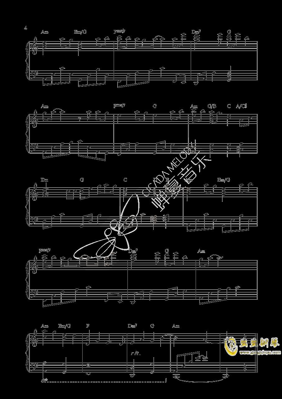 桃花诺钢琴谱 第4页
