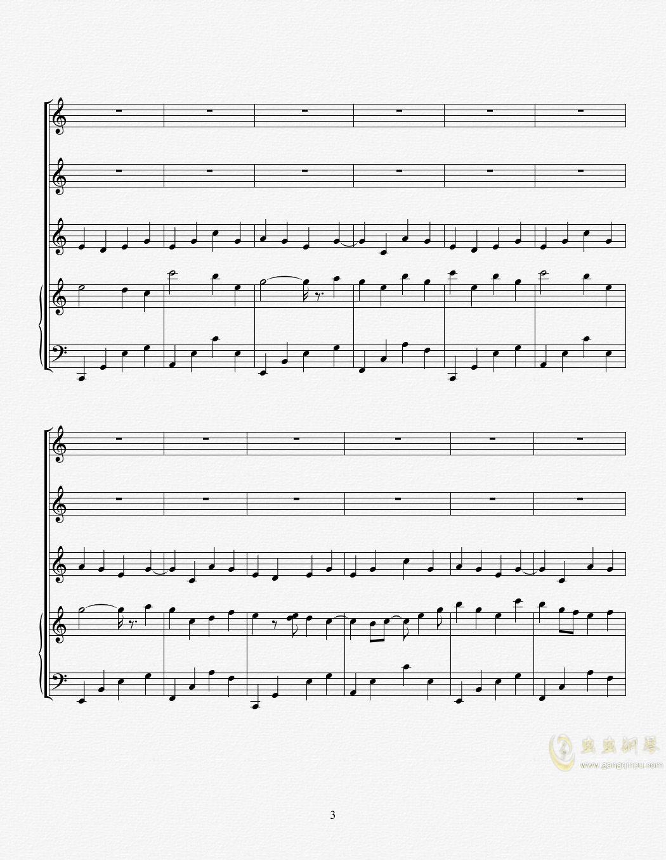 花束钢琴谱 第3页