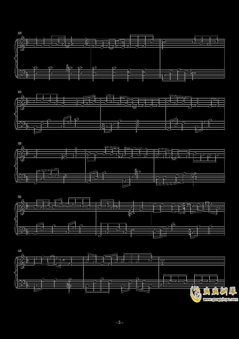 那些年钢琴谱 第2页