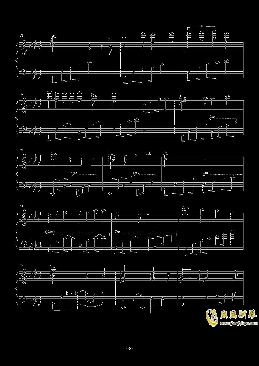 ��蛘婕o子―君をのせて钢琴谱 第4页
