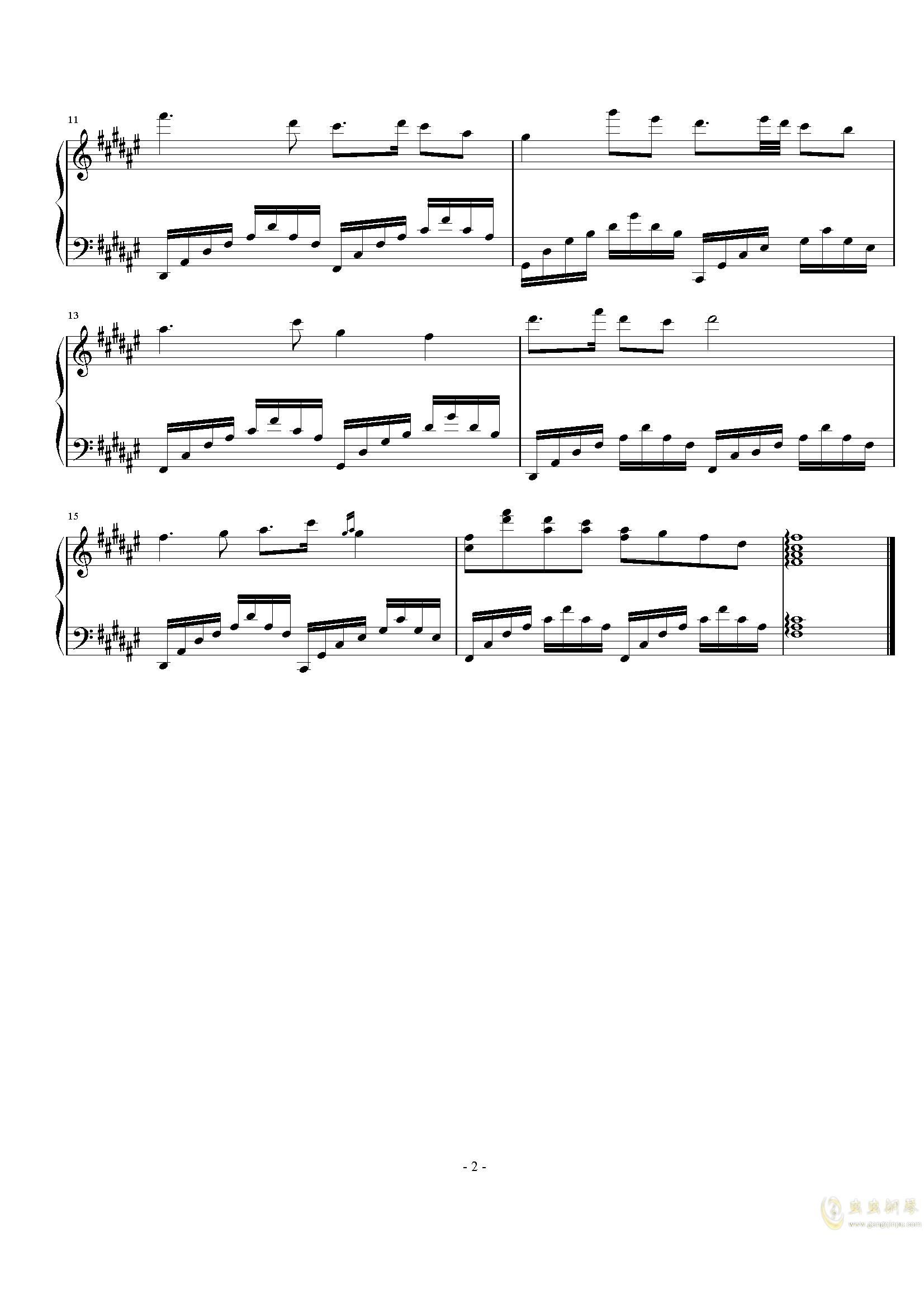 天气预报主题曲钢琴谱 第2页