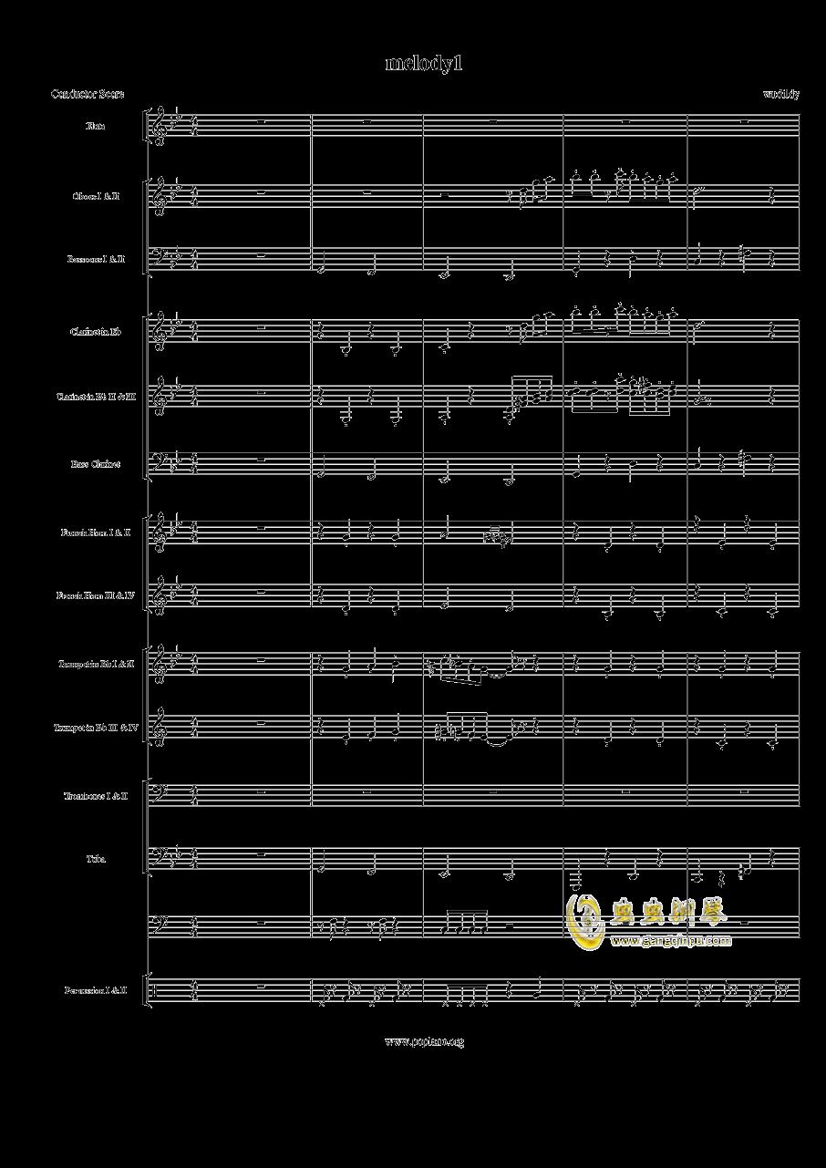 melody1鲁班大师钢琴谱 第1页