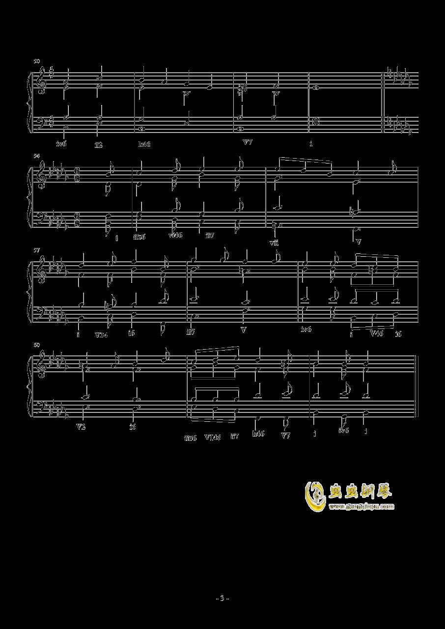 斯波索宾和声题钢琴谱 第3页