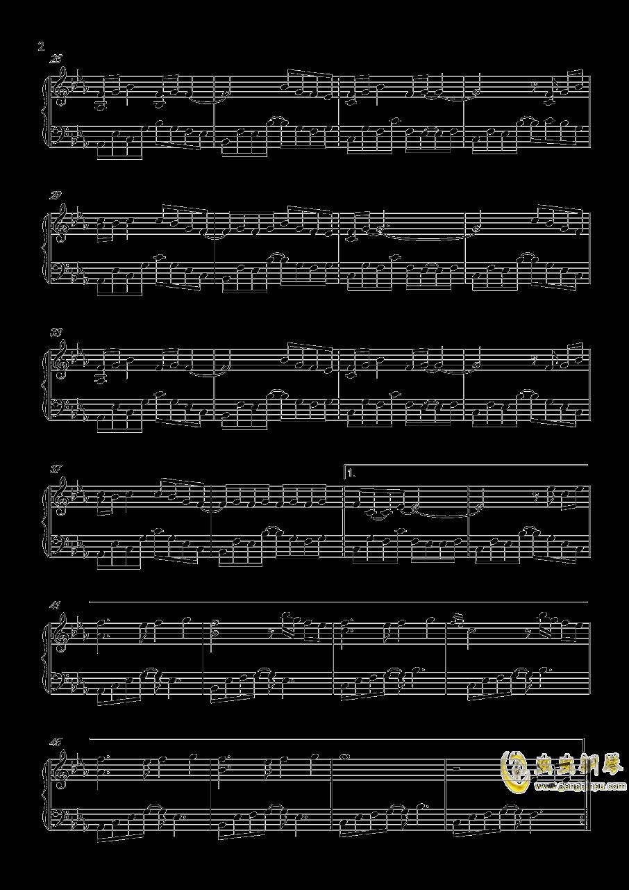 回眸钢琴谱 第2页