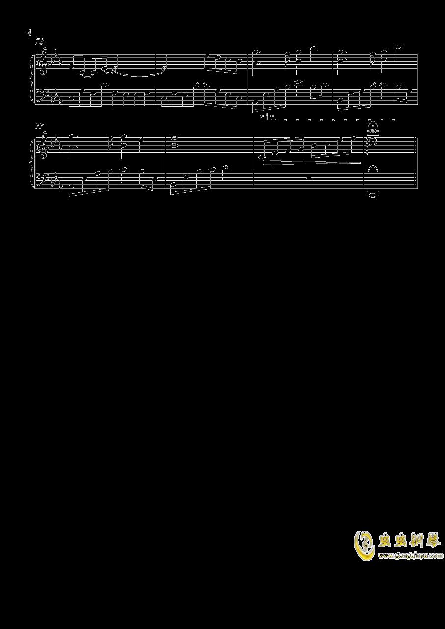 回眸钢琴谱 第4页
