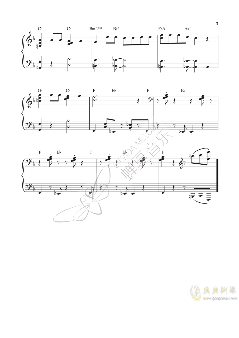 唐老鸭钢琴谱 第3页